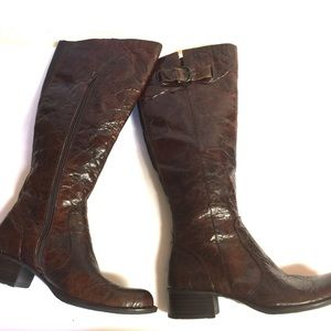👑 Børn Leather Roxie Crinkled Leather Tall Boots
